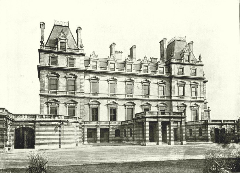Associate Product LONDON. Montagu House- The Whitehall Front 1896 old antique print picture