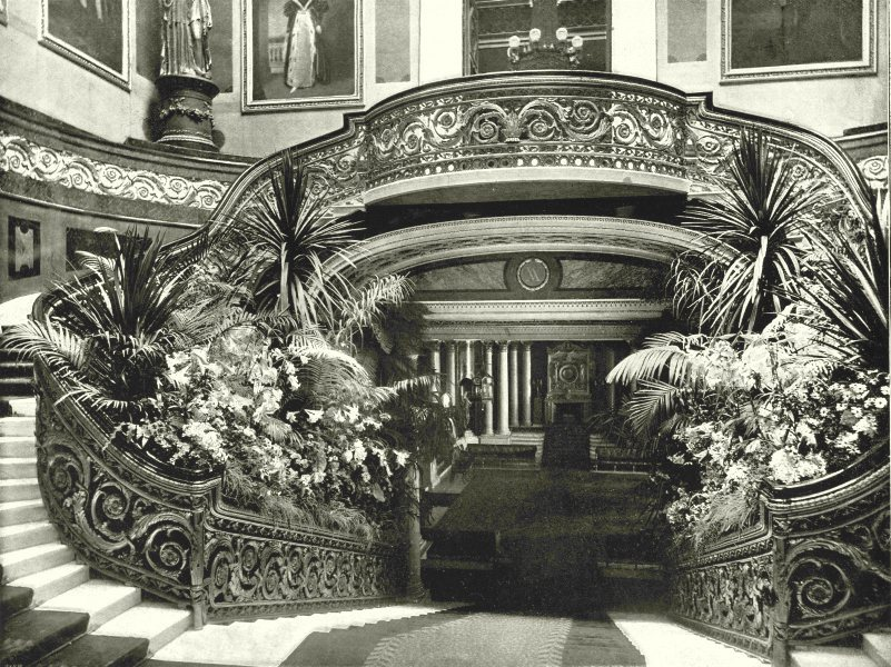 Associate Product LONDON. Buckingham Palace- The Grand Staircase 1896 old antique print picture