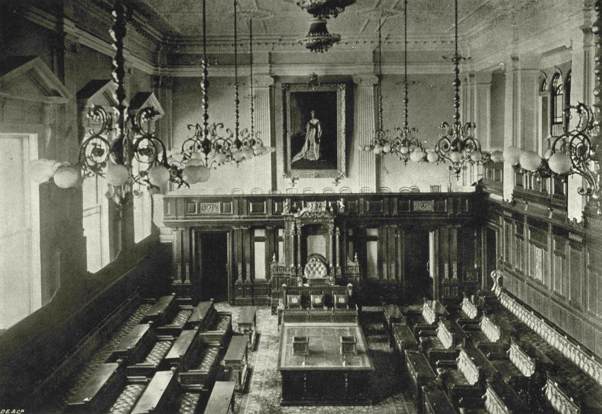 Associate Product SOUTH AFRICA. Interior of House of Assembly, Parliament house, Cape Town 1899