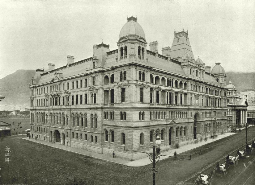 Associate Product SOUTH AFRICA. The General post office, Adderley street, Cape Town 1899 print