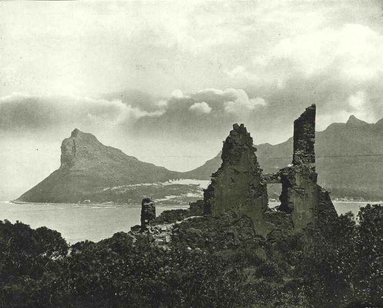 Associate Product SOUTH AFRICA. Old Ruin at Hout bay 1899 antique vintage print picture
