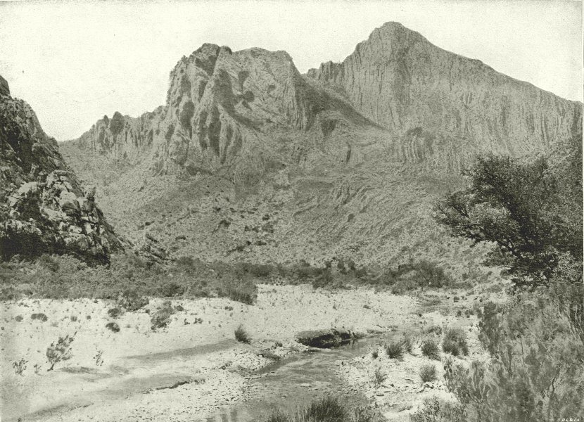 Associate Product SOUTH AFRICA. Cogman's Kloof, Montagu (Beyond the Tunnel)  1899 old print