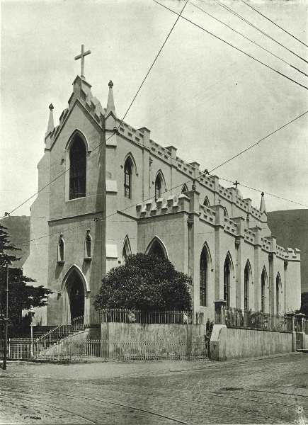 Associate Product SOUTH AFRICA. St Mary's Roman Catholic Cathedral, Cape Town 1899 old print