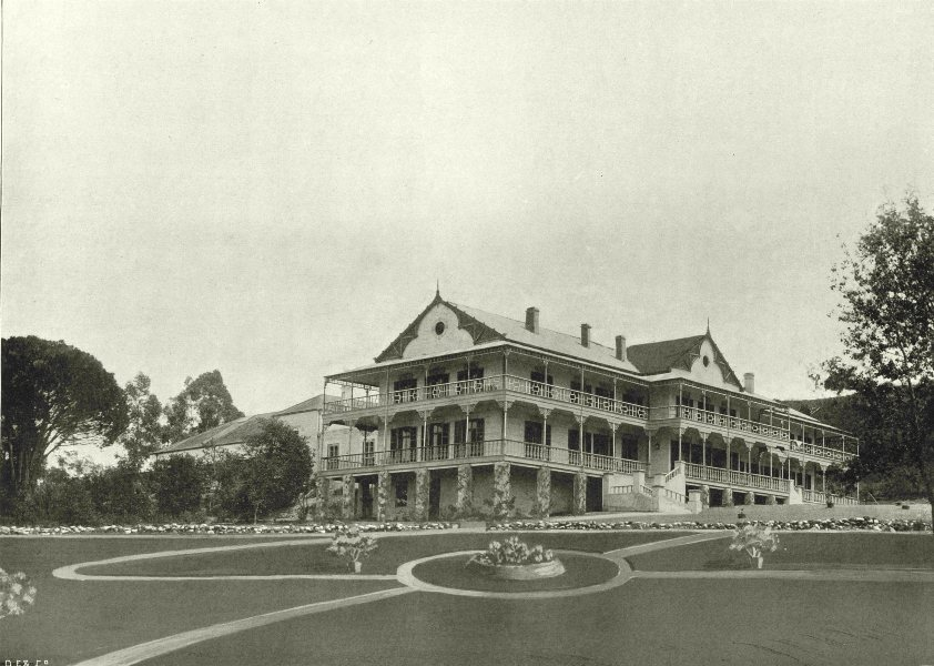 Associate Product SOUTH AFRICA. The Caledon hot mineral baths and Sanatorium 1899 old print