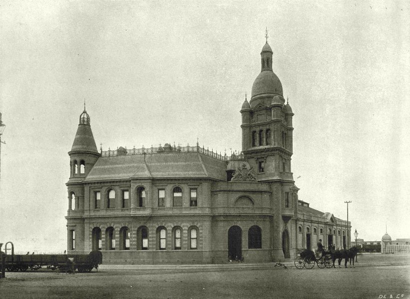 Associate Product SOUTH AFRICA. Customs house, Port Elizabeth 1899 old antique print picture