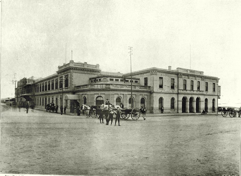 SOUTH AFRICA. The Railway station 1899 old antique vintage print picture