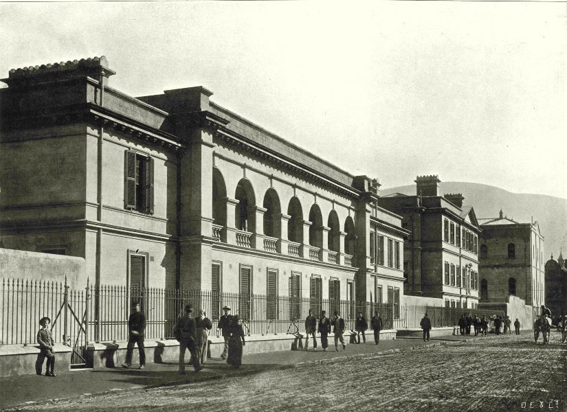 Associate Product SOUTH AFRICA. Officers Quarters, Main Barracks, Cape Town 1899 old print