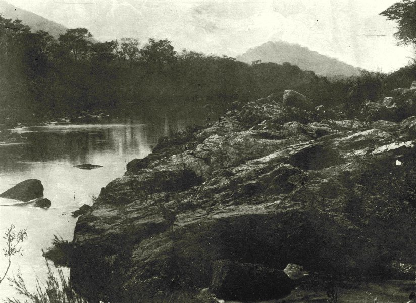 Associate Product SOUTH AFRICA. View on Nytzitsi river 1899 old antique vintage print picture