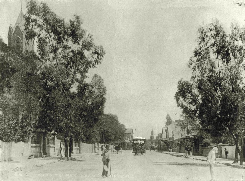 Associate Product SOUTH AFRICA. Du Toits Pan road 1899 old antique vintage print picture