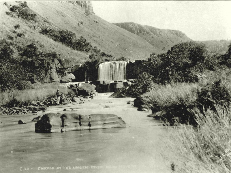 Associate Product SOUTH AFRICA. Cascade on the Umgeni river 1899 old antique print picture