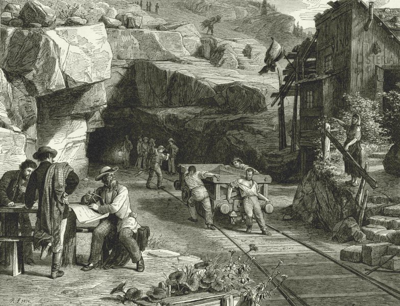 Associate Product ITALY. Across the St Gothard. Making the Tunnel through the St Gothard 1877