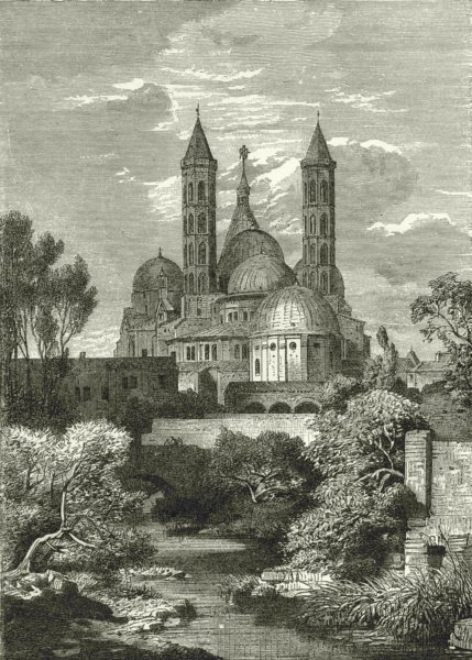 Associate Product ITALY. Church of St Anthony, Padua 1877 old antique vintage print picture