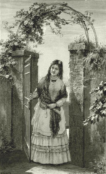 Associate Product ITALY. Milan. Milanese Lady 1877 old antique vintage print picture