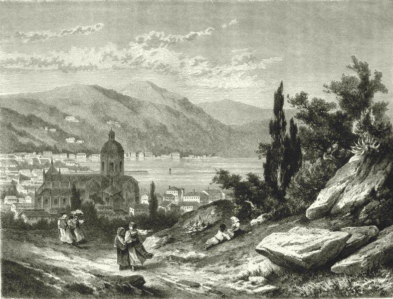 Associate Product ITALY. Lago di Como. Como 1877 old antique vintage print picture