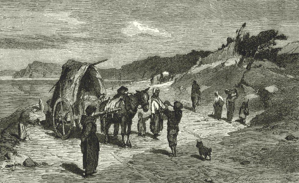 Associate Product ITALY. Riviera di Ponente. Scene on the Shore 1877 old antique print picture