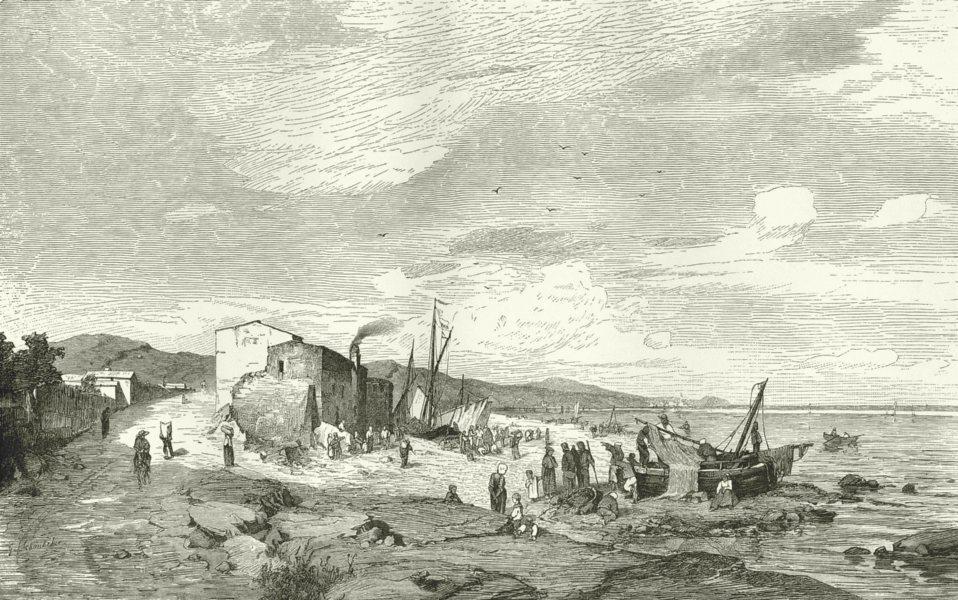 Associate Product ITALY. Riviera di Ponente. Pegli Riviera di Ponente 1877 old antique print