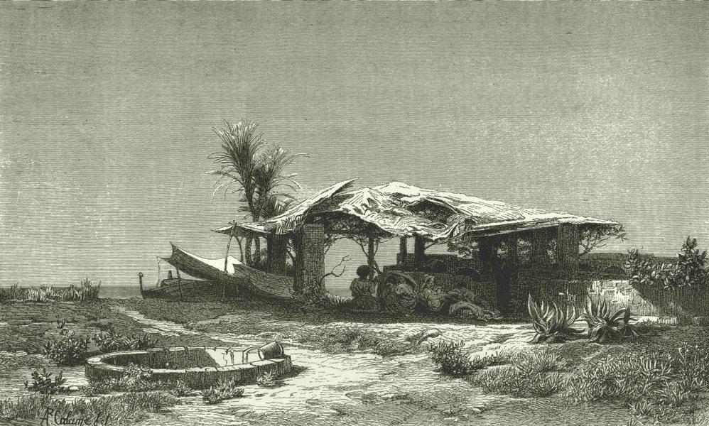 Associate Product ITALY. Riviera di Ponente. Near Bordighera 1877 old antique print picture