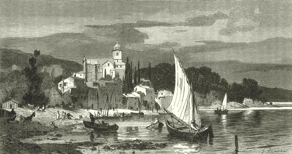 Associate Product ITALY. Riviera di Levante. Jezzano, in the bay of La Spezia 1877 old print