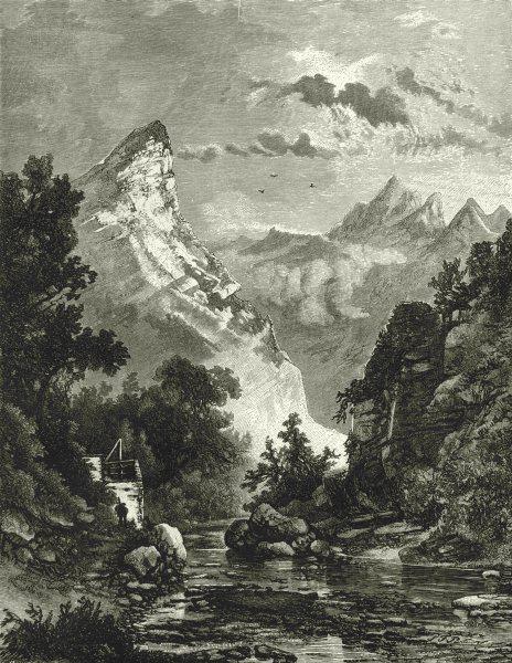 ITALY. Riviera di Levante. Marble Quarries near Carrara 1877 old antique print