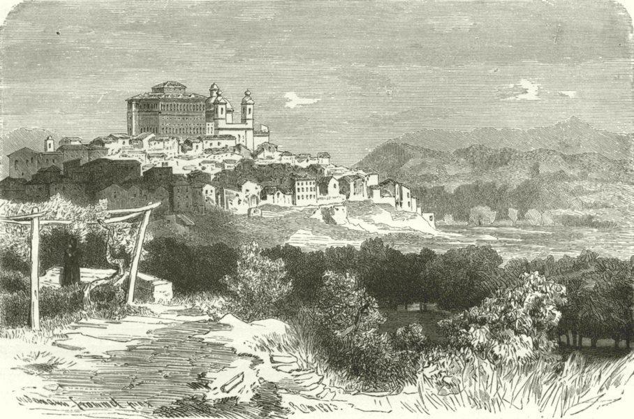 Associate Product ROME. Roman Campagna. Valmontone 1877 old antique vintage print picture