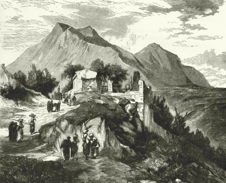 Associate Product ITALY. Monte Vergine 1877 old antique vintage print picture