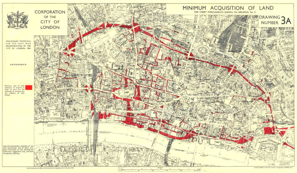 CITY OF LONDONPostwar Reconstruction PLANNED LAND ACQUISITION