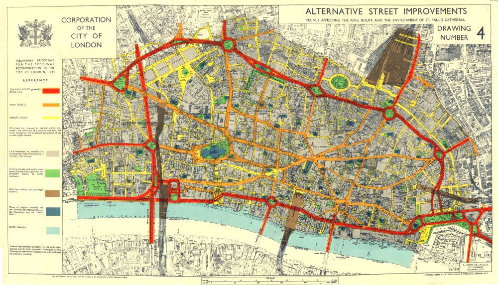 CITY OF LONDONPostwar Reconstruction ALTERNATIVE PLANNED RING