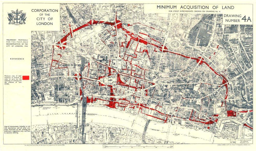 CITY OF LONDONPostwar Reconstruction plan 1944 MIN LAND