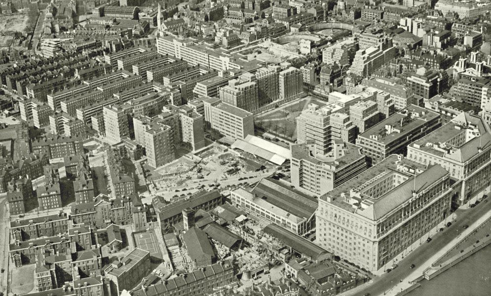 Associate Product LONDON. Pre- war Redevelopment in Westminster 1943 old vintage print picture