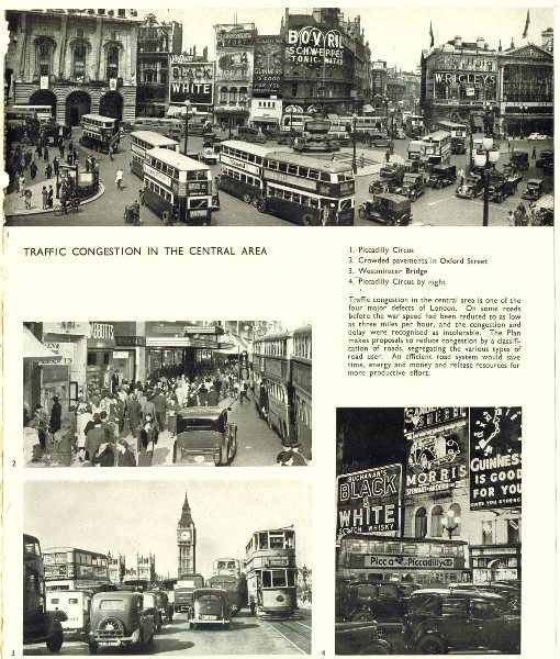 Associate Product LONDON.Traffic Congestion.Piccadilly Circus,Oxford St,Westminster-Bridge 1943