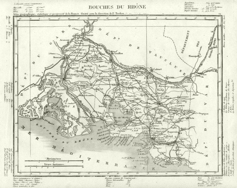 Associate Product BOUCHES- DU- RHÔNE. Bouches- Du- Rhône département. Tardieu 1830 old map