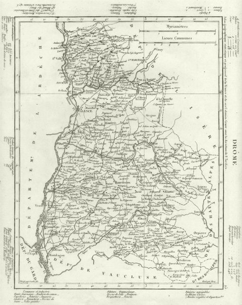 Associate Product DRÔME. Drôme département. Tardieu 1830 old antique vintage map plan chart