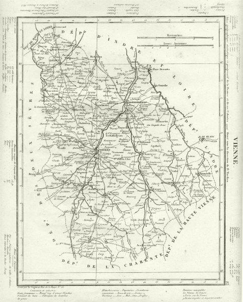 Associate Product VIENNE. Vienne département. Tardieu 1830 old antique vintage map plan chart