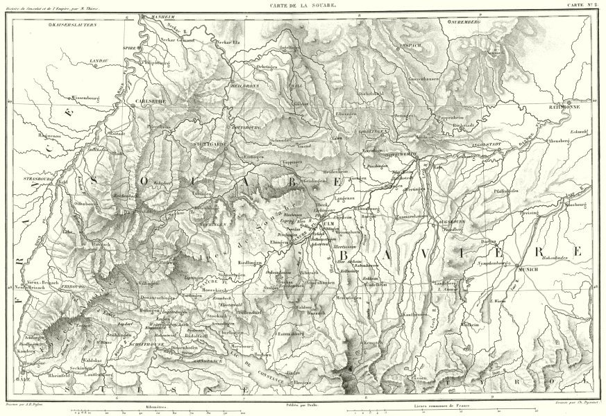 Map Of Germany Ulm.Details About Germany Schwaben Souabe Baviere Bavaria Bayern Munchen Ulm Stuttgart 1859 Map