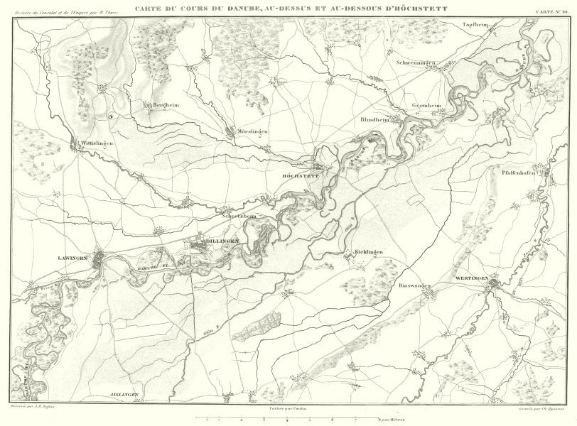 Associate Product GERMANY.Danube, Hochstadt Dillingen Wertingen Lauingen 1859 old antique map