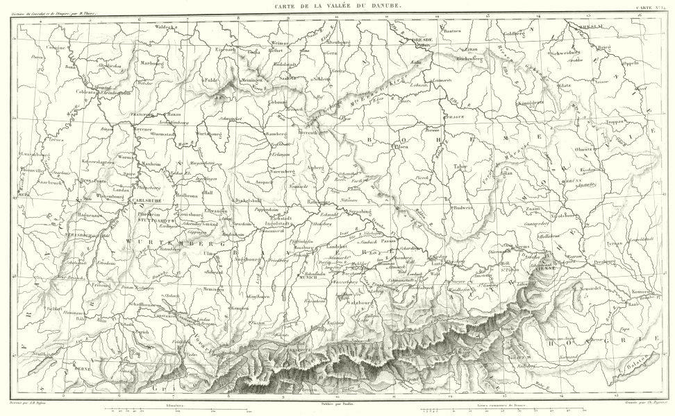 Associate Product EUROPE. Carte de la Vallée du Danube. Germany Austria Czech Republic 1859 map