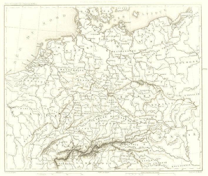 Associate Product GERMANY. Carte Générale de L'Allemagne 1859 old antique vintage map plan chart