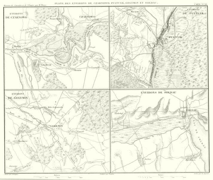 Associate Product POLAND. Czarnowo, Pultusk, Golymin Dzialdowo (Soldau)  1859 antique map