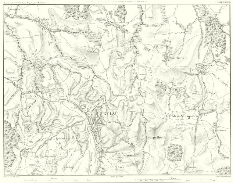 Associate Product RUSSIA. Plan du Champ de Bataille D'Eylau 1807. Bagrationovsk 1859 old map