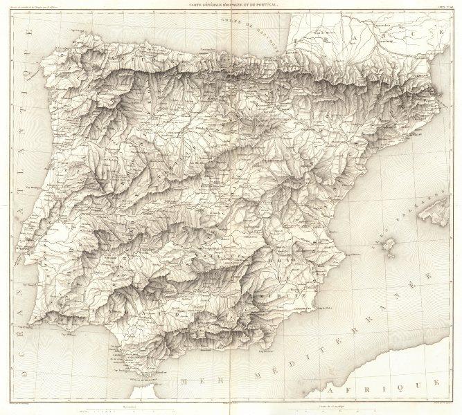 Associate Product IBERIA. Carte Génerale D'Espagne et de Portugal 1859 old antique map chart