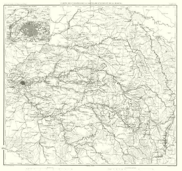 Associate Product FRANCE EAST CENTRE. Vallées de la Seine, de L'Aube et de la Marne 1859 old map