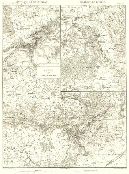Associate Product FRANCE. Montereau-Fault-Yonne; Brienne-le-Château; Montmirail plans 1859 map