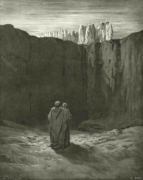 Associate Product DANTE. While, looks directed ground, meaning pathway he explored 1893 print