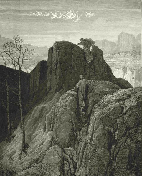 Associate Product DANTE. While underneath, the ground ask'd help of hands and feet 1893 print