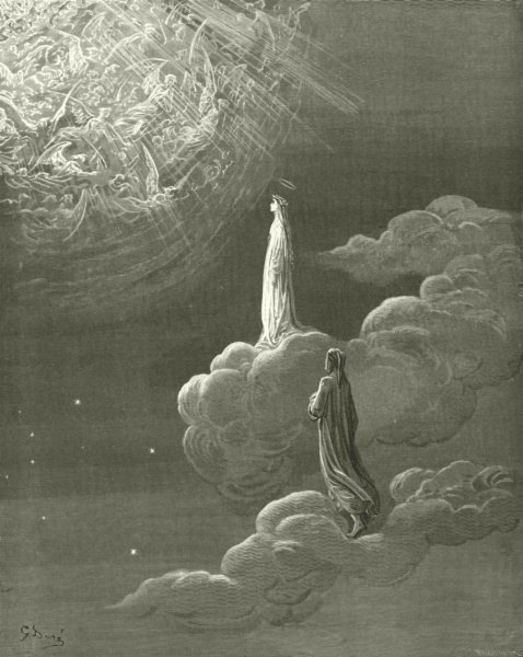 Associate Product DANTE. beheld myself, Sole my lady, more lofty bliss translated 1893 old print