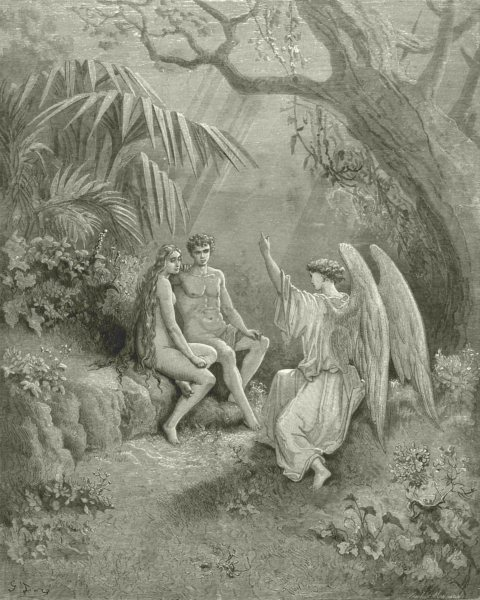 Associate Product MILTON PARADISE LOST. whom wingèd Hierarch replied. Adam, 1 almighty c1886