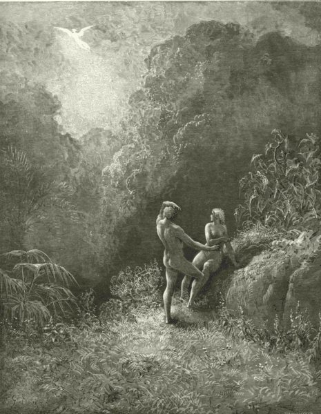 Associate Product MILTON PARADISE LOST.So parted they.Angel up heaven thick shade Adam c1886