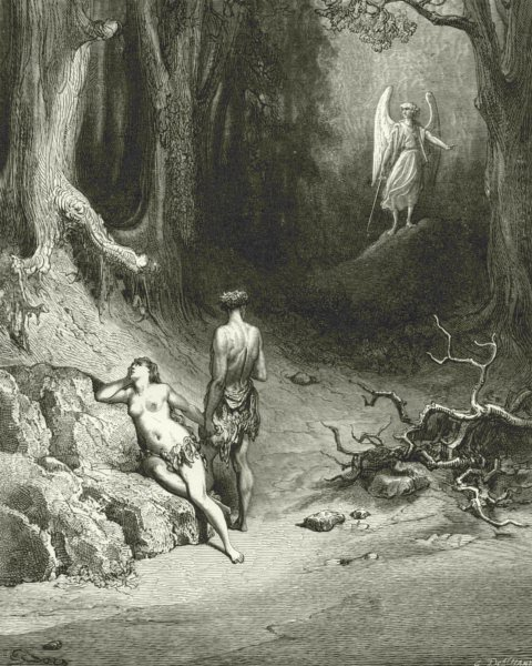 MILTON PARADISE LOST. Natural they dropt, but wiped them soon c1886 old print