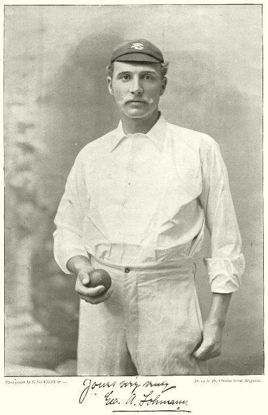 Associate Product SURREY CRICKET. GEORGE LOHMANN- all- rounder Medium pace off & leg break 1896