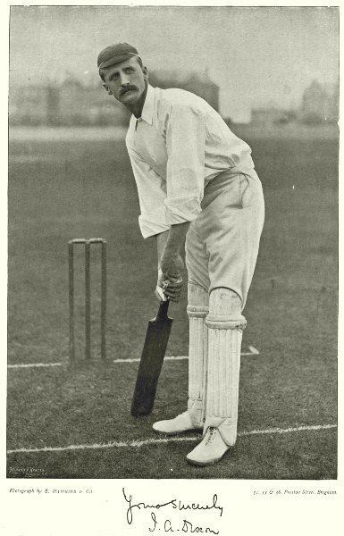 Associate Product NOTTS CRICKET. JA DIXON- All- rounder; Capt; Football striker 1896 old print